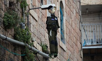 Effigy of haredi IDF soldier hung in Jerusalem
