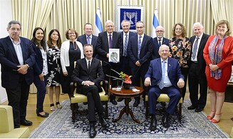 Rivlin receives special copy of medical journal on Israel