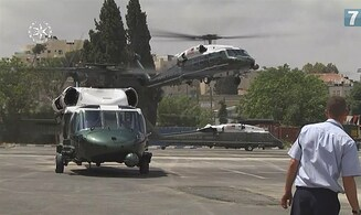 WATCH: Helicopters ready for Trump's visit