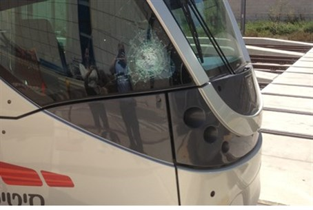 Light Rail car attacked.