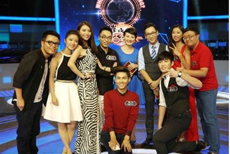 "Contestants on China's TV show ""Who's Still S"