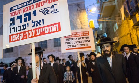 Previous haredi protests against the draft