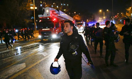 Scene of Ankara bombing (file)