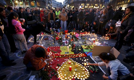 Mourning in Brussels after the attack