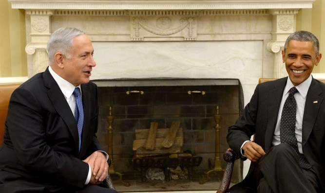 Netanyahu with Obama (archive)