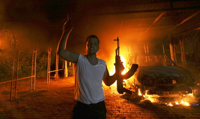 Aftermath of 2012 attack on US Consulate in Benghazi, Libya