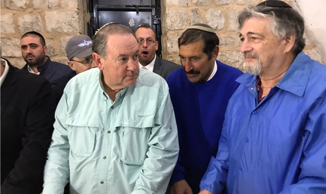 Mike Huckabee at Joseph's Tomb