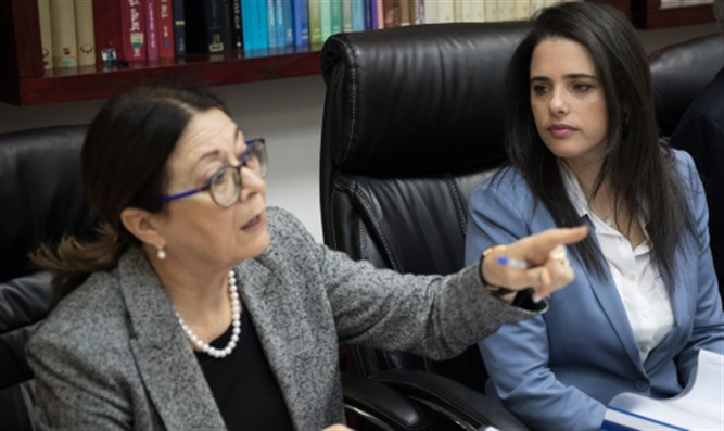 Esther Hayut (left) and Ayelet Shaked (right)