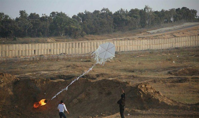 Incendiary kite launch