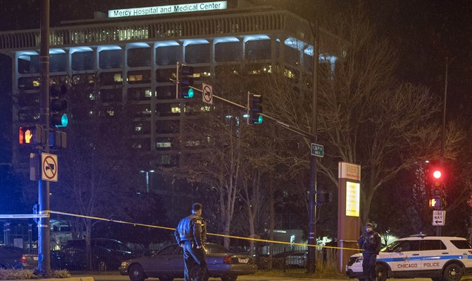 Scene of shooting at Mercy Hospital in Chicago