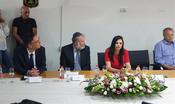 Ayelet Shaked at farewell ceremony in Justice Ministry