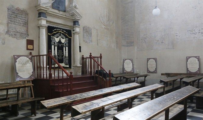 View from inside the Izaak Synagogue