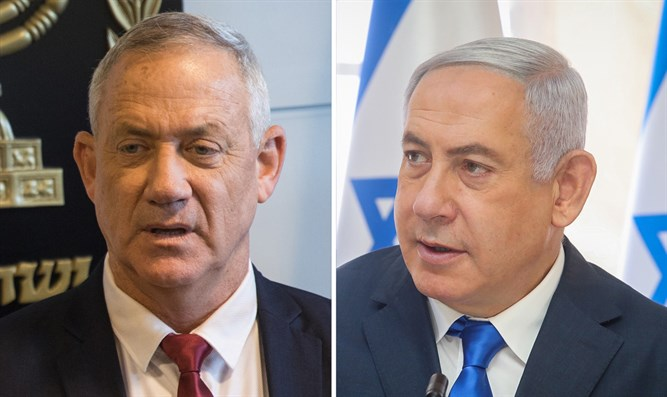 MK Gantz and PM Netanyahu