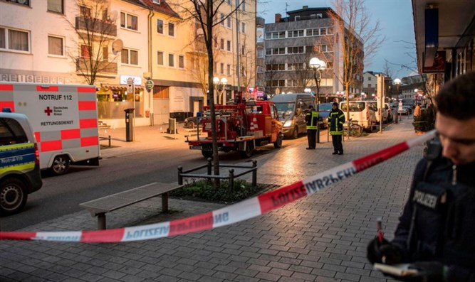 Scene of shooting attack in Hanau, Germany