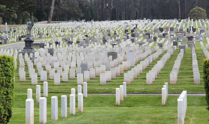US Military cemetery (stock)