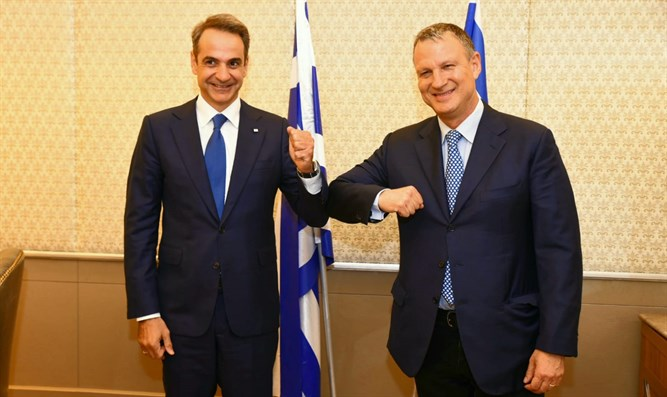 Greek PM Kyriakos Mitsotakis meets JVP Chairman Erel Margalit