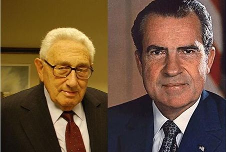 Secy Henry Kissinger and Pres. Richard Nixon