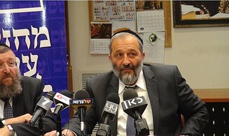 Deri calls halakhic state threat 'One big lie'