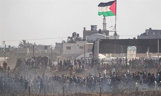 Gazan women demonstrate along border fence