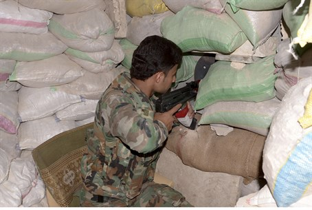 Syrian Army soldier in Aleppo