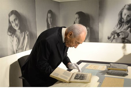 President Shimon Peres visits the Anne Frank