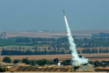 Israel's Iron Dome in action (illustrative)