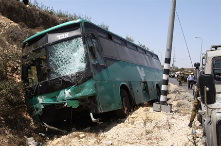 Road accident near Hevron (file)