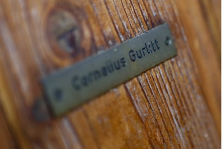 Cornelius Gurlitt's name plate at his home (file)