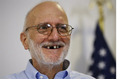 Alan Gross after being freed from Cuban prison