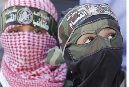 Hamas kids in Gaza (illustration)