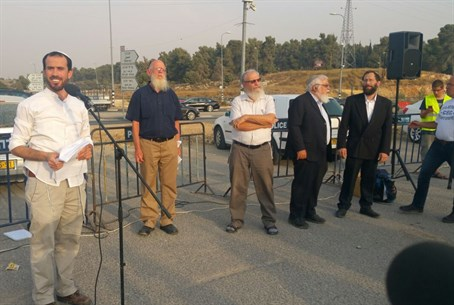 Joint Israeli-Palestinian prayer in Gush Etzion