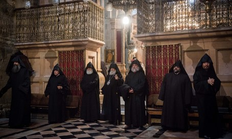Armenian clergy during Mass