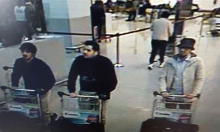 Brussels bombers on CCTV