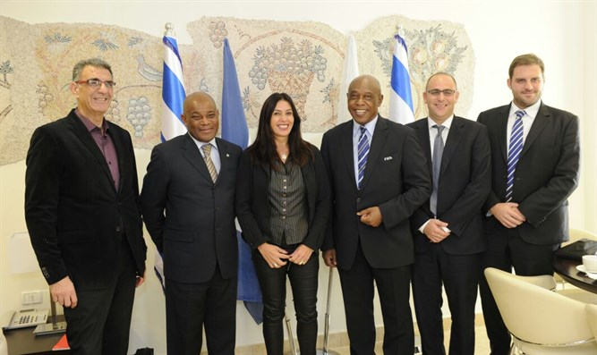 Regev meets FIFA delegation