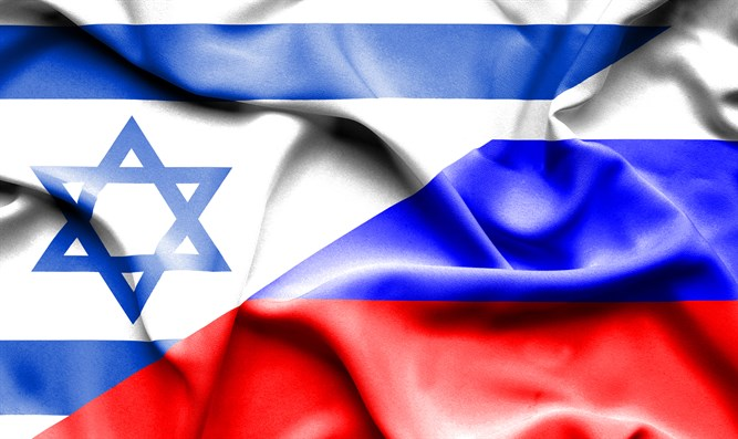 Israeli and Russian flags