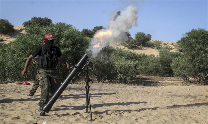 Mortar fire in Rafah