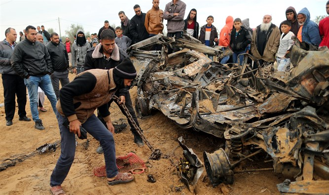 scene of Gaza incident this morning