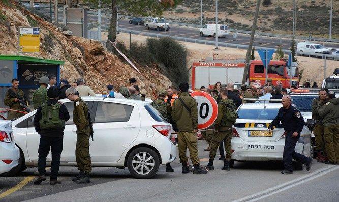 Scene of Givat Assaf attack