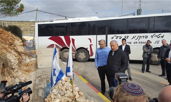 Netanyahu visits scene of Givat Assaf shooting