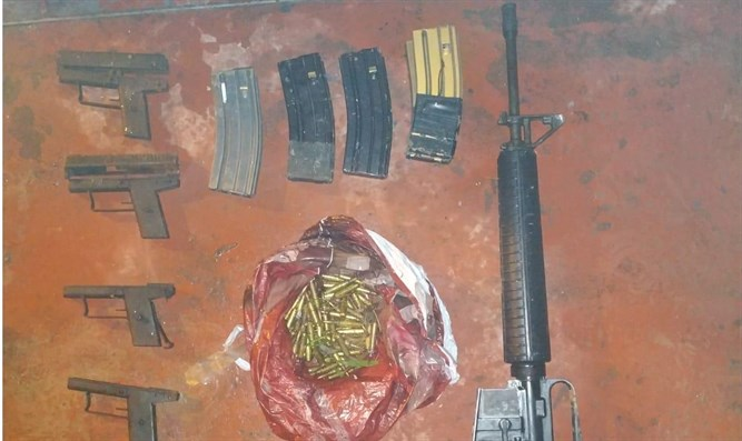 The seized weapons and ammunition