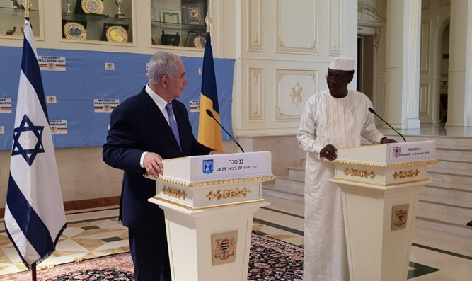Netanyahu with the President of Chad