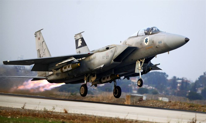 Israeli F-15 Eagle fighter jet takes off to Gaza