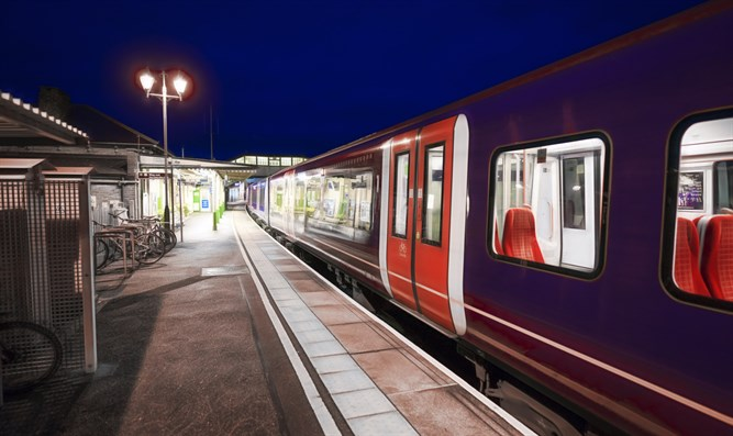Commuter train in UK (stock image)