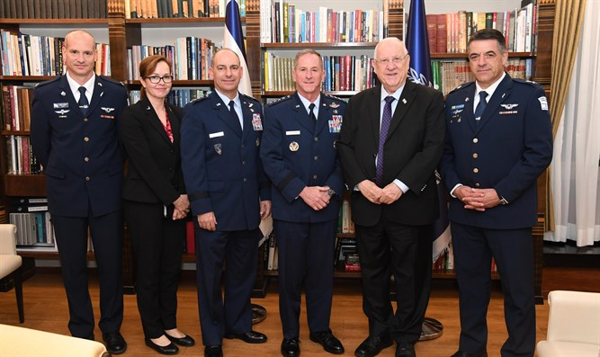 Rivlin meets US Air Force General David L Goldfein