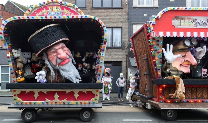 Anti-Semitic float at Aalst carnival