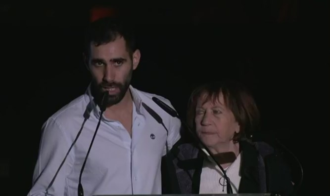Aviram Shaul and his mother