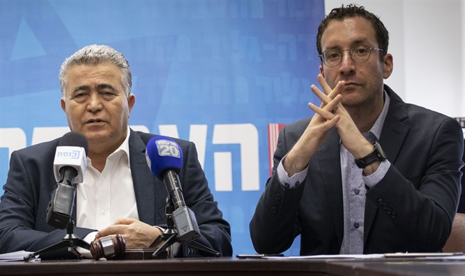 Amir Peretz and Itzik Shmuli
